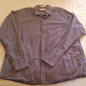 Men's Michael Kors blue long sleeve shirt